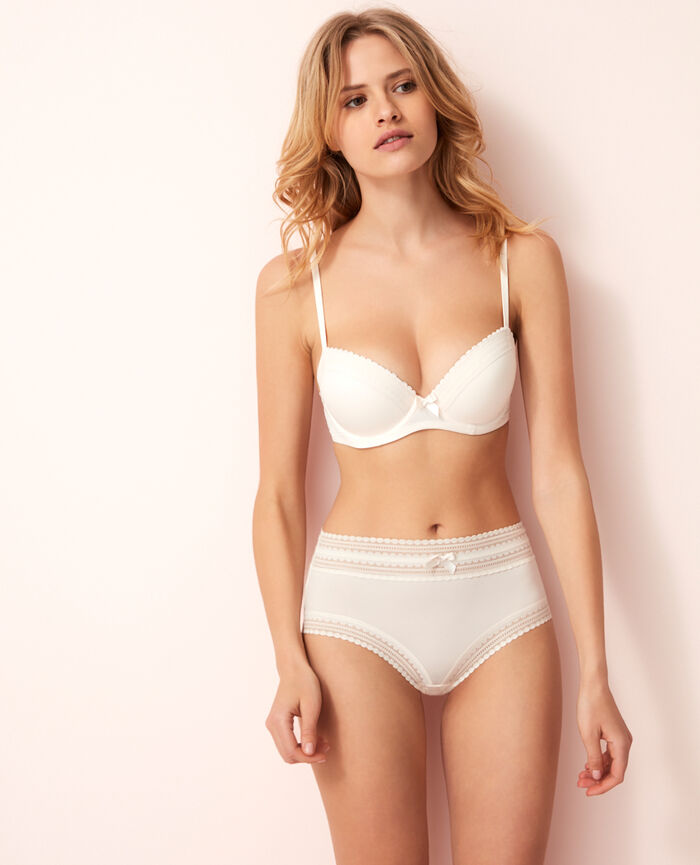 Progressive-cup push-up bra Rose white Beaute