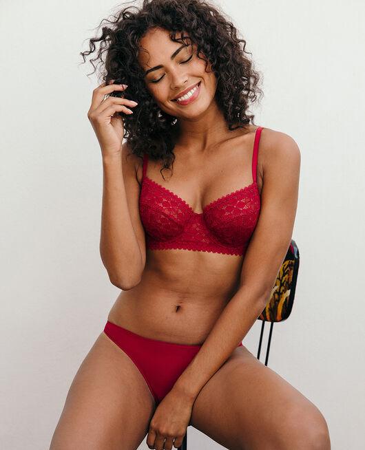 Culotte taille basse Rouge camelia Josephine