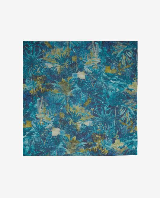 Scarf Blue palm Jardin