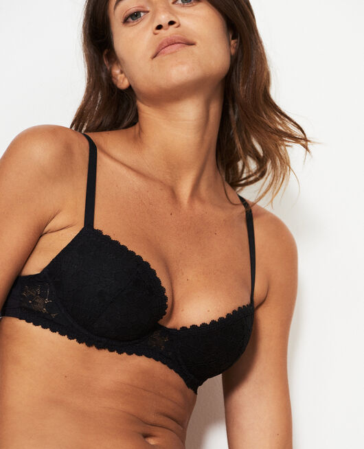 Padded push-up bra Black Josephine