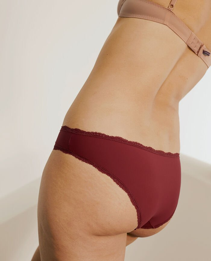 Culotte taille basse Rouge raisin Take away