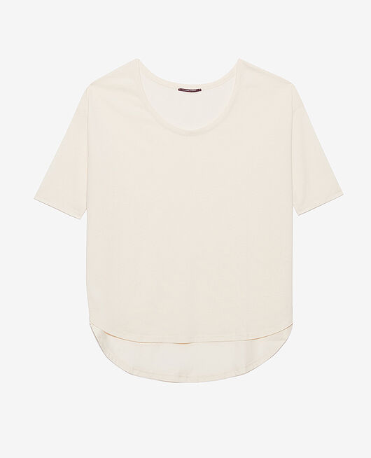 T-shirt manches longues Blanc rosé Top collection