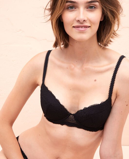 Padded push-up bra Black Esquisse