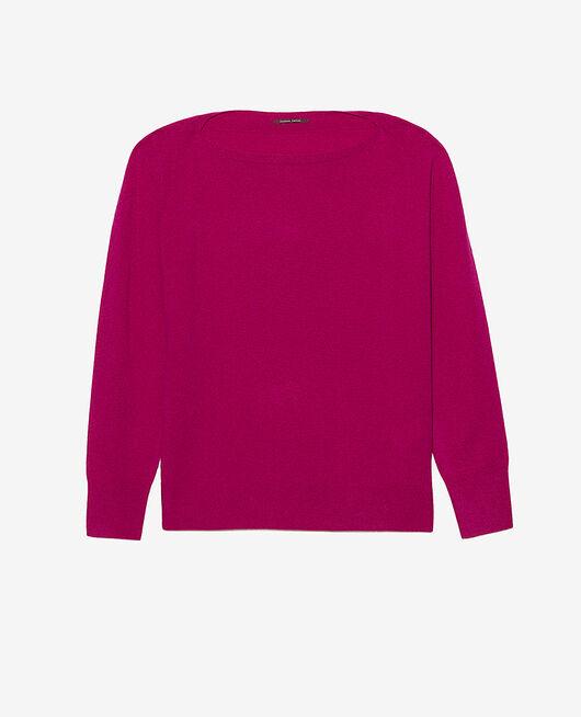 Boatneck jumper Crocus purple Cosy