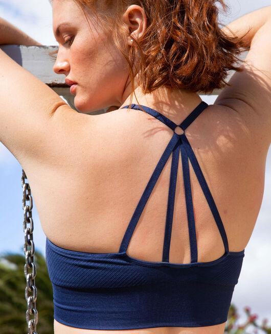 Brassière maintien léger Bleu marine Yoga