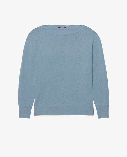 Boatneck jumper Ash blue Cosy