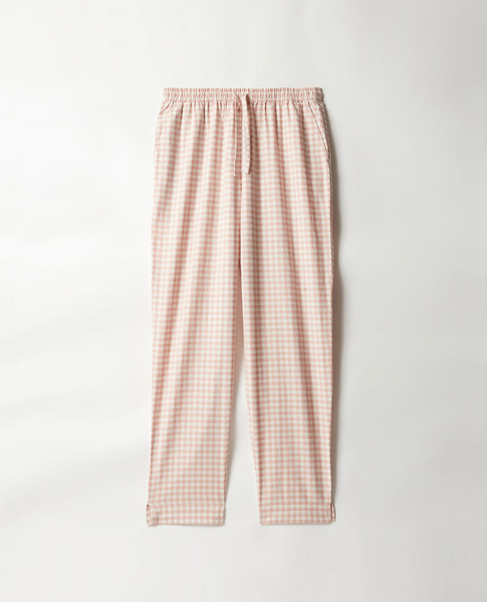 Trousers Morning pink criss-cross Relax flanelle