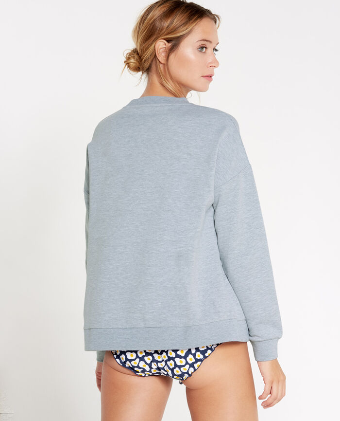 Sweat Gris chiné Sweat collection