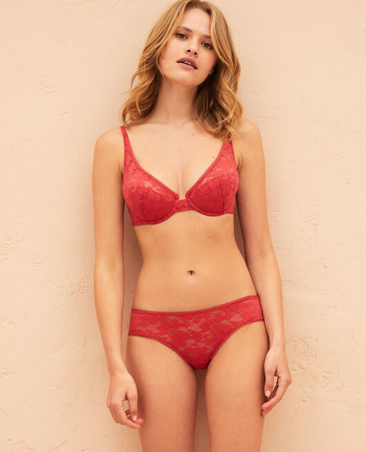 Demi push-up bra Peony red Lumiere