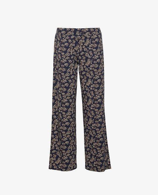 Trousers Navy blue fiesta Dimanche print