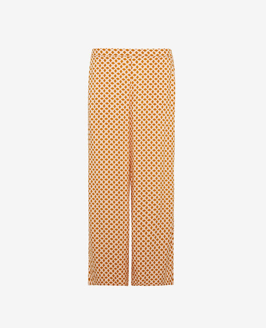 Gaucho pants Cumin yellow geometric Pyjmania