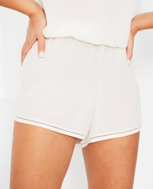 Pyjama shorts Cream white Caresse