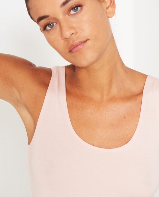 Vest top Powder beige Inner heattech