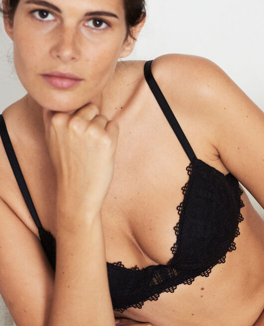 Padded push-up bra Black Amour