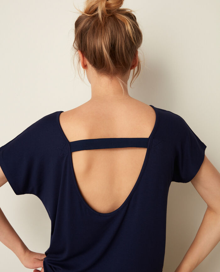Sport short-sleeved t-shirt Navy Yoga