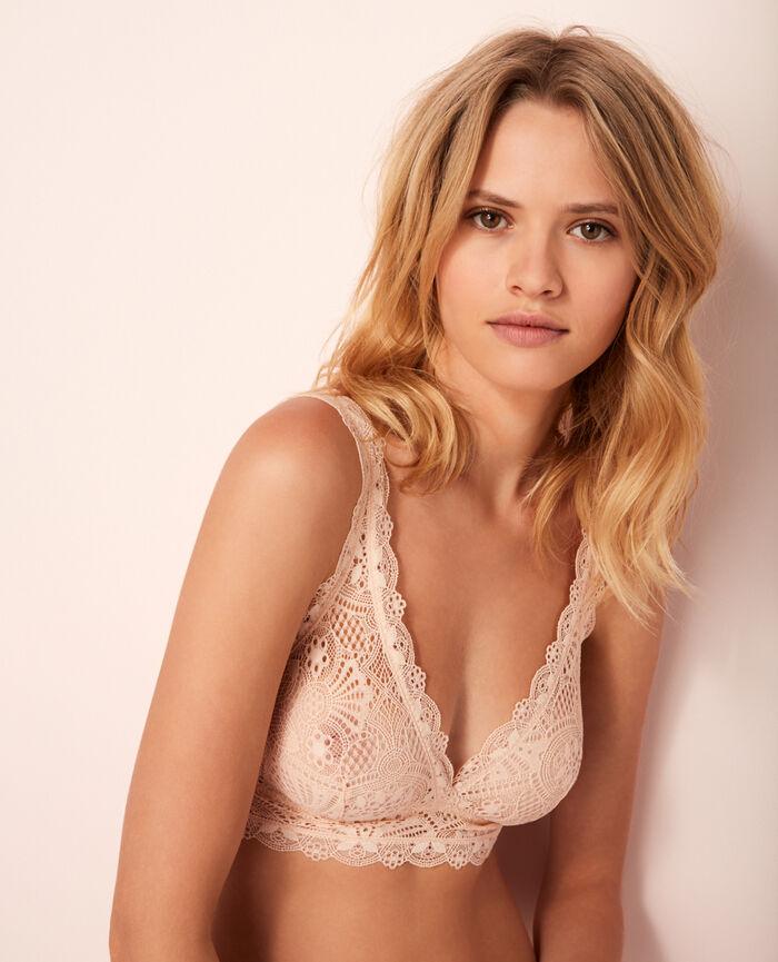 Soft cup bra Rose gold Love