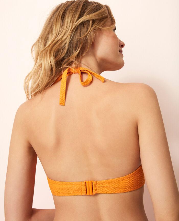 Soutien-gorge de bain triangle mini-wire Orange maya Wahou