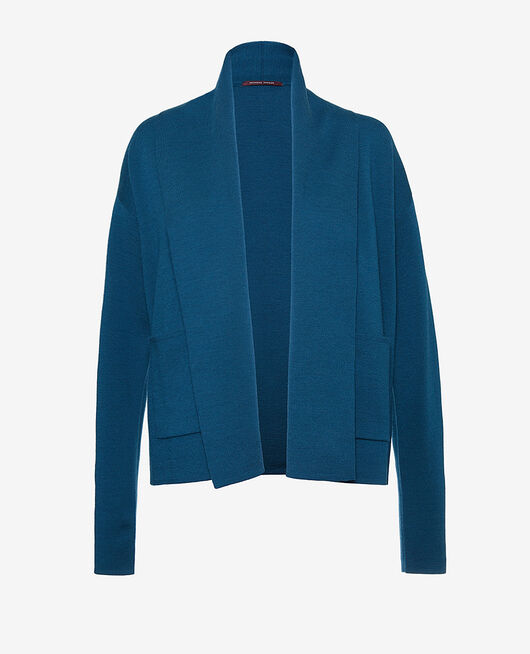 Cardigan manches longues Bleu jazz Soft
