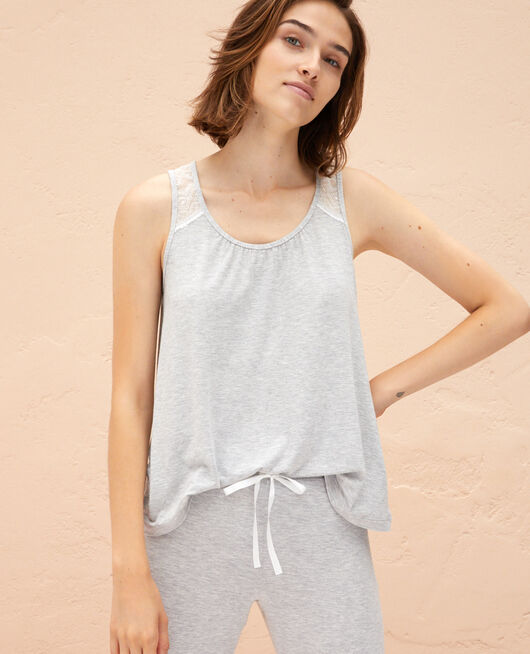 Vest top Flecked grey Douceur