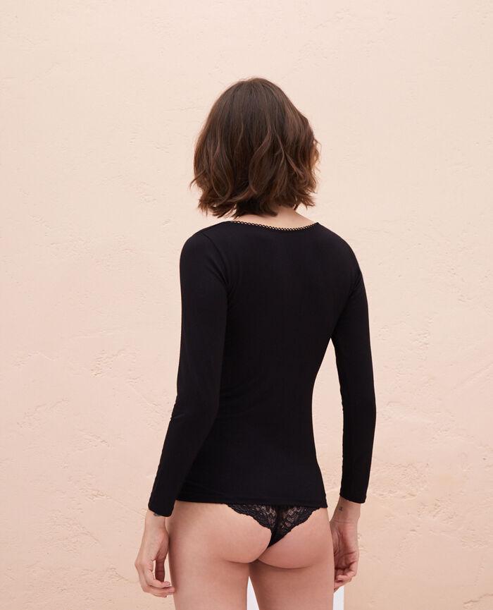 Long sleeved top Black Innerwear