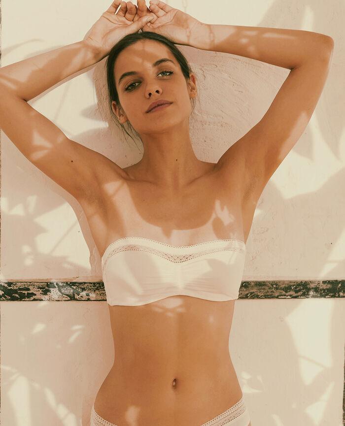 Strapless bra Rose white Eclat