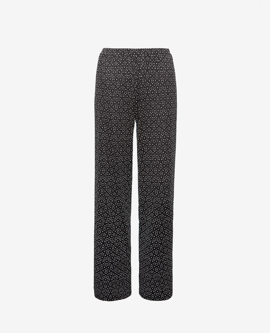 Pyjama trousers Black chouia Latte