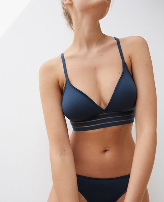 Soft cup bra Graphite grey Air lingerie