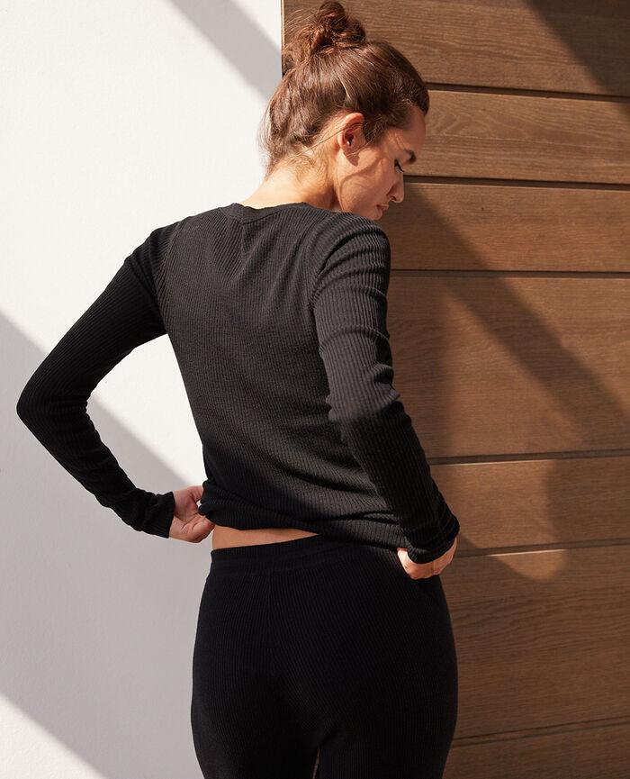 V-neck jumper Black Cocoon