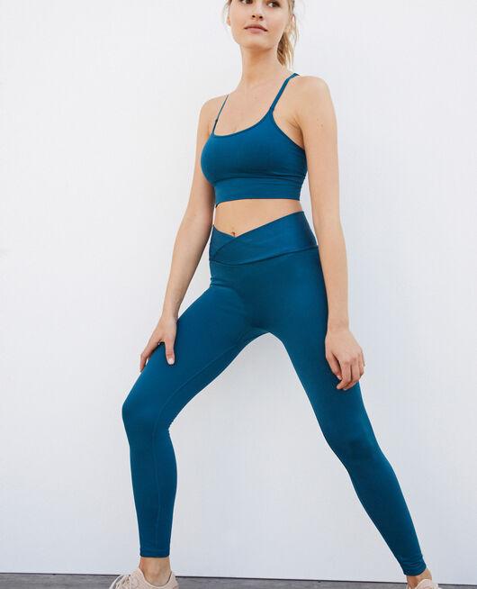 Legging de sport Bleu jazz Yoga se