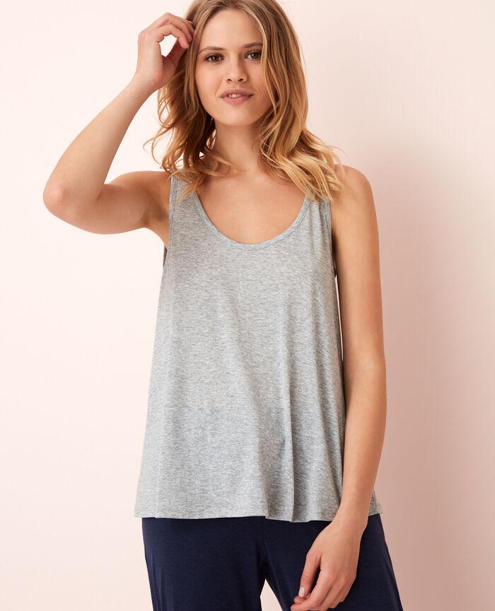 T-shirt sans manches Gris chiné Latte