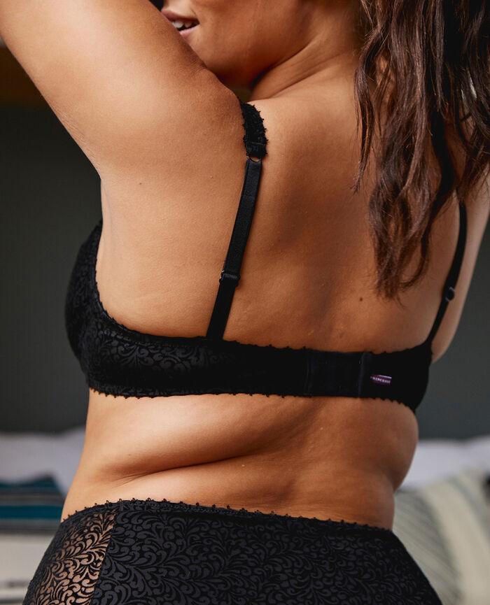 Underwired triangle bra Black Velvet