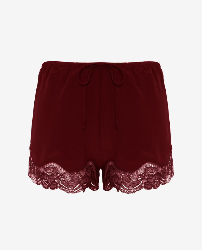 Short de pyjama Rouge cassis Divine