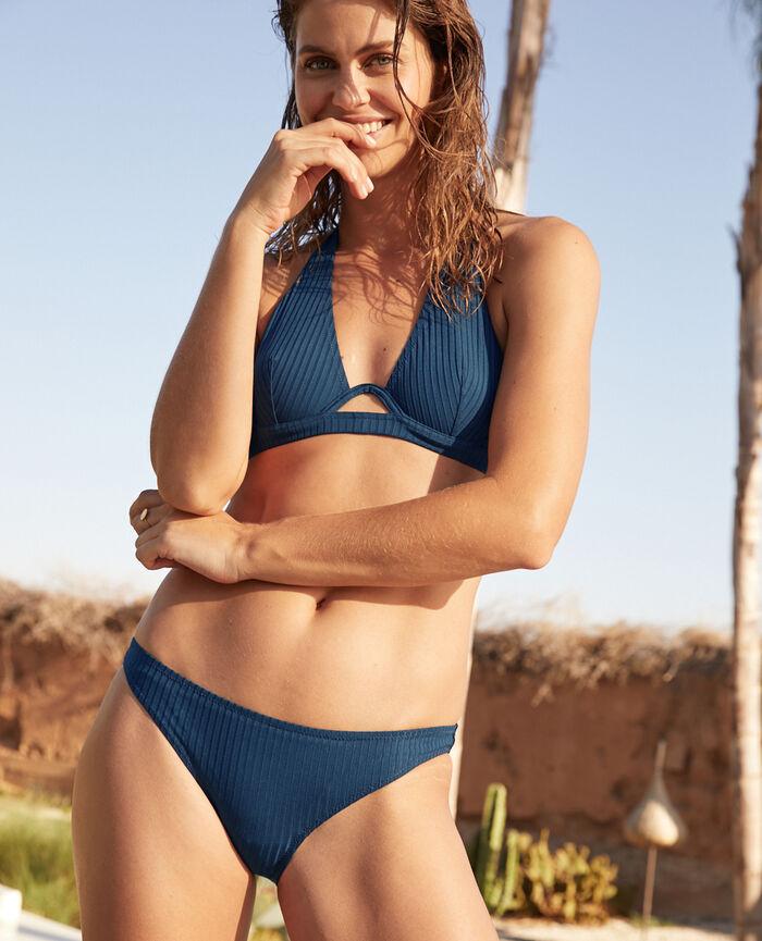 High-cut bikini briefs Sombrero blue Couture