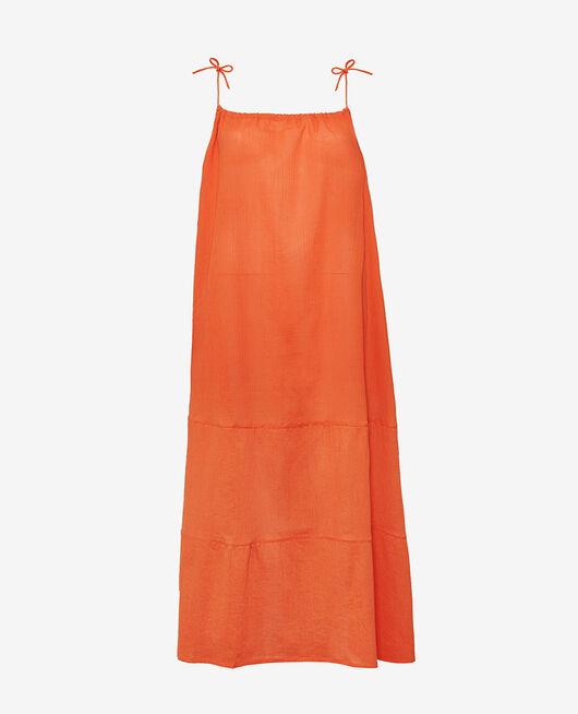Long flared dress Safran Mellah