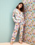 Veste de pyjama Color block Palazzo