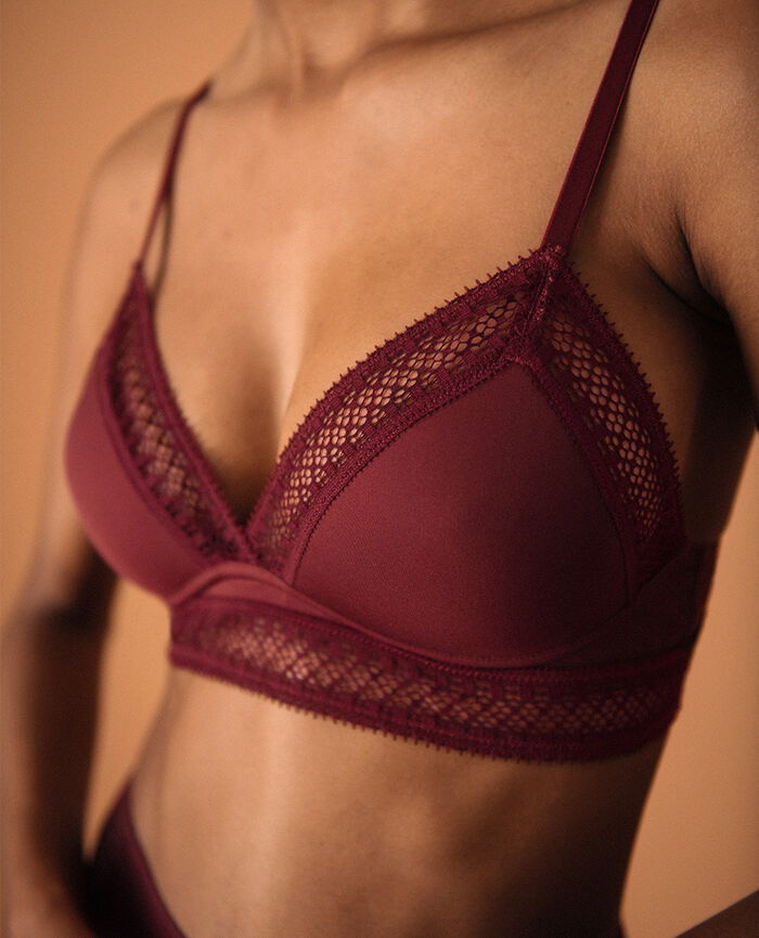 Soft cup bra Cassis red Eclat - the be cool