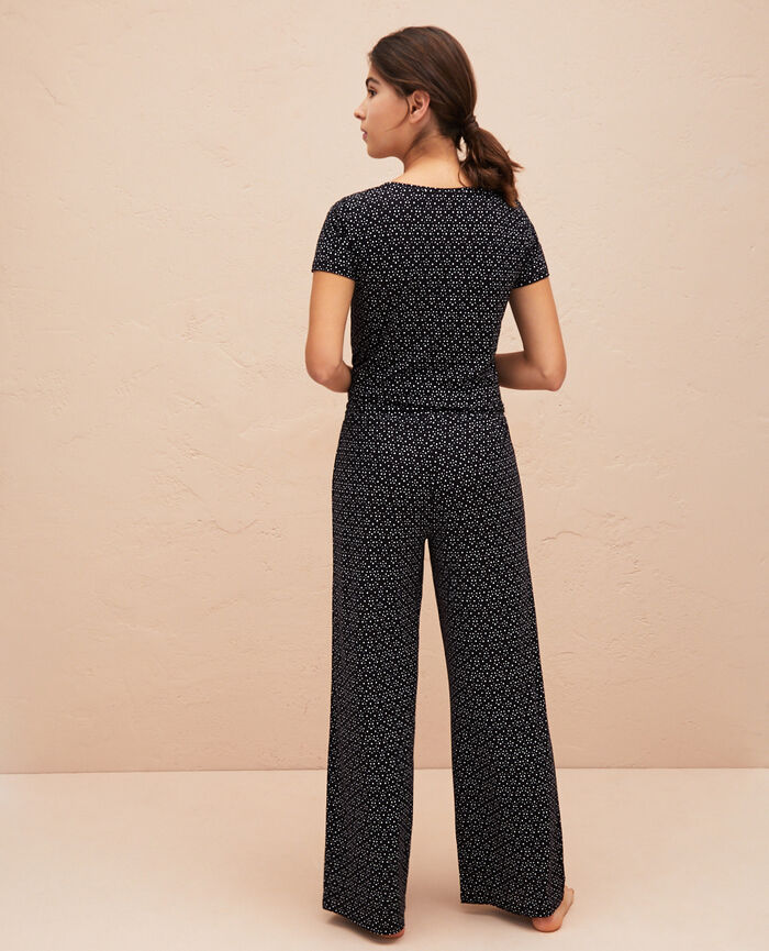 Pantalon de pyjama Chouia noir Latte
