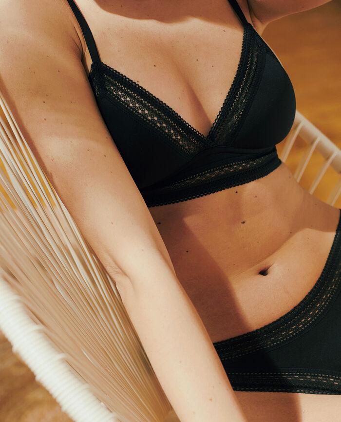 Wireless padde bra Black Eclat - the be cool