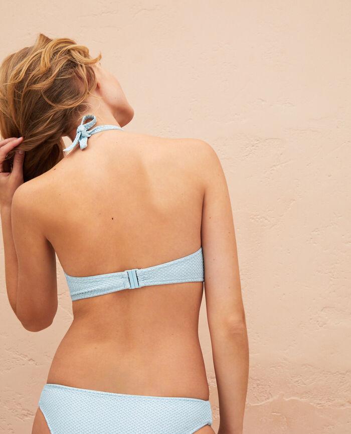 Mini-wire triangle bikini top Mosaic green Jawahra