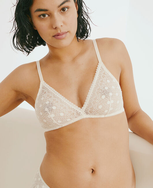 Wireless bra Rose white Confetti