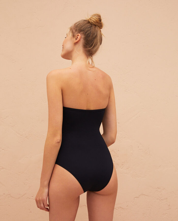 Bustier swimsuit Black Baraka