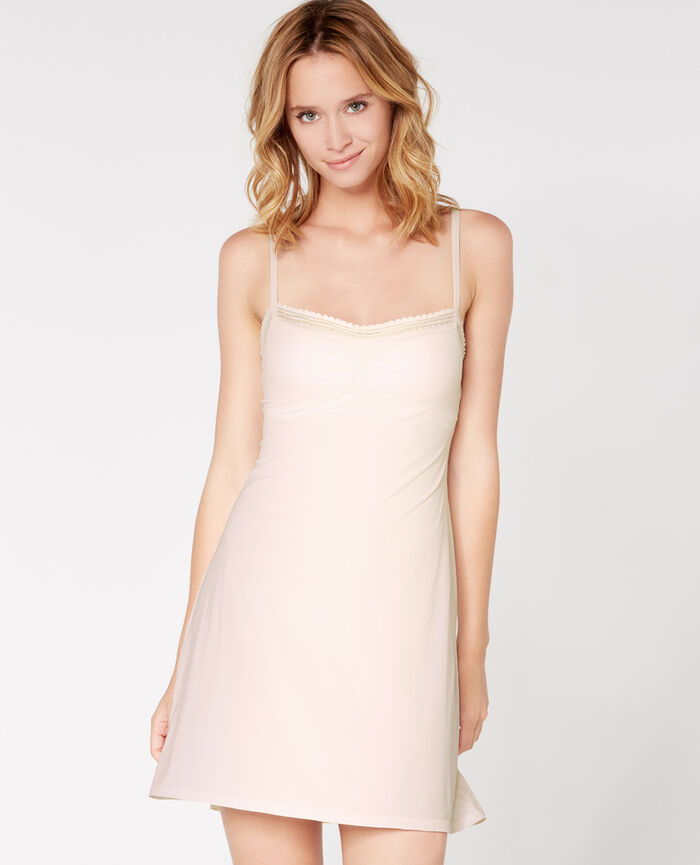Dress with built-in bra Rose white Beaute