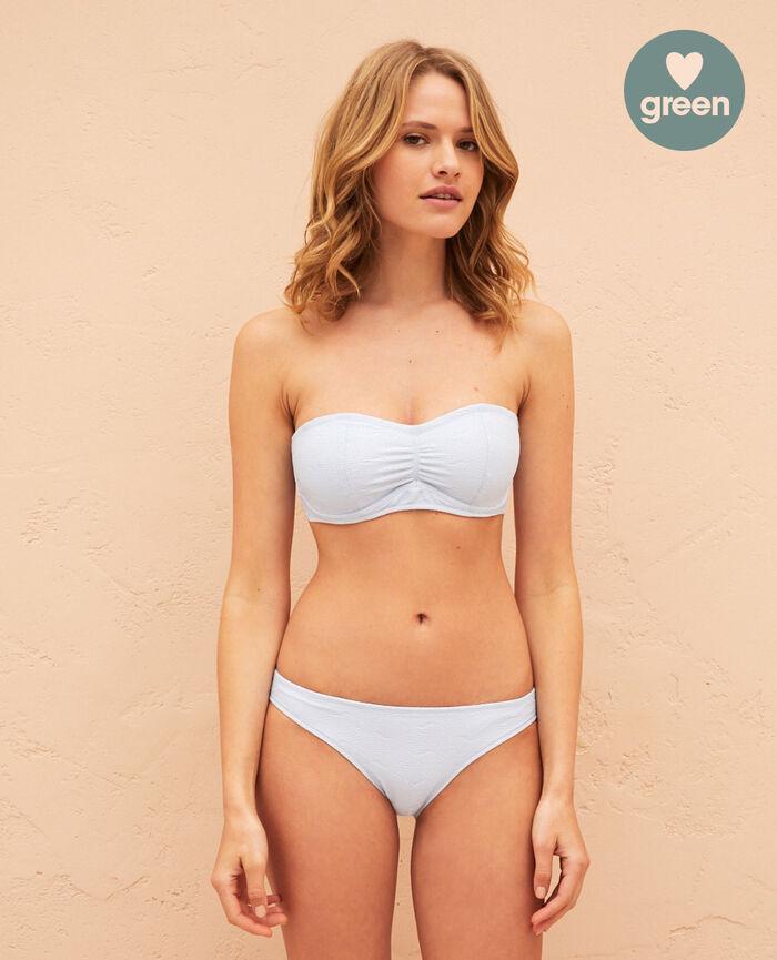 Underwired strapless bikini top Sky blue Niala