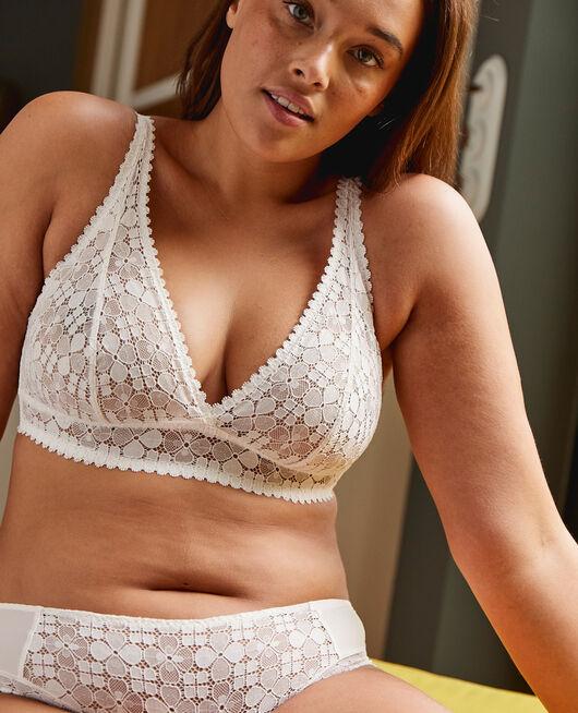 Backless triangle bra Rose white Josephine