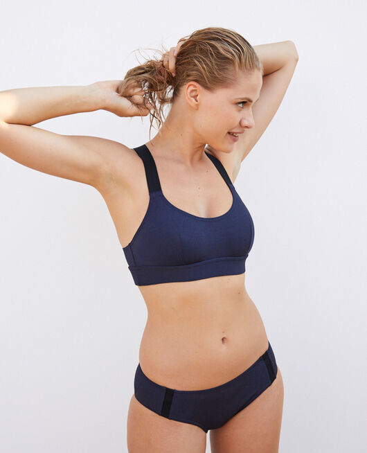 Soft cup swimsuit sports Navy Dive