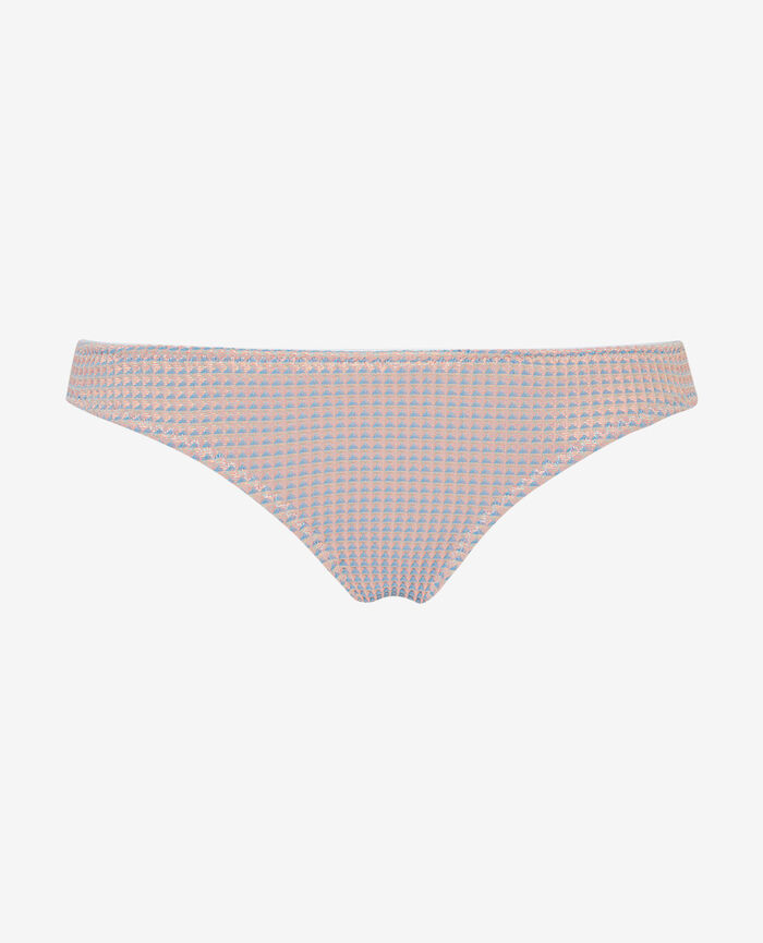 High-cut bikini briefs Funky pink Pepita