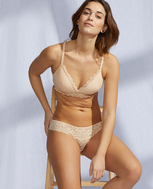 Soft cup bra Nude beige Paquerette
