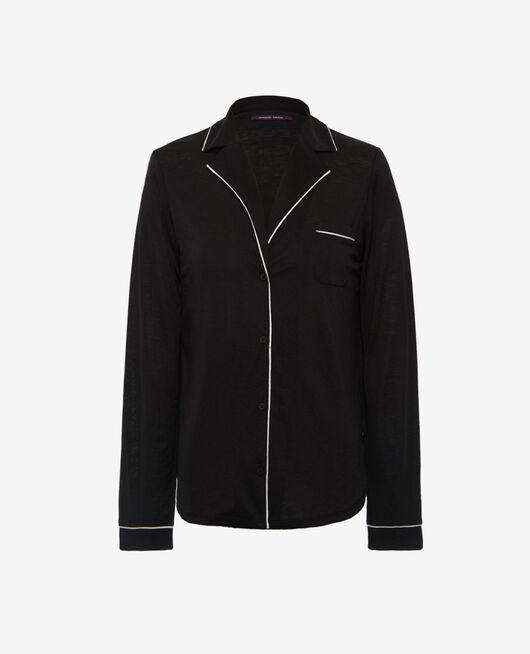 Pyjama jacket Black Latte organic