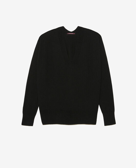 V-neck jumper Black Cosy
