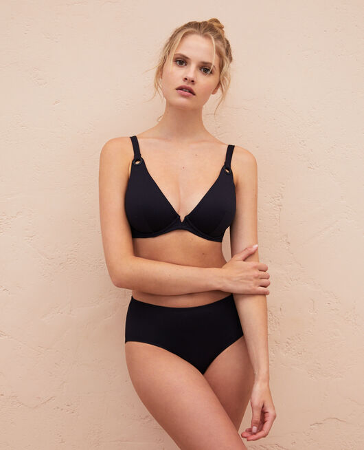 Underwired triangle bikini top Black Impala